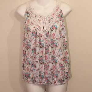 Floral tang top, size large